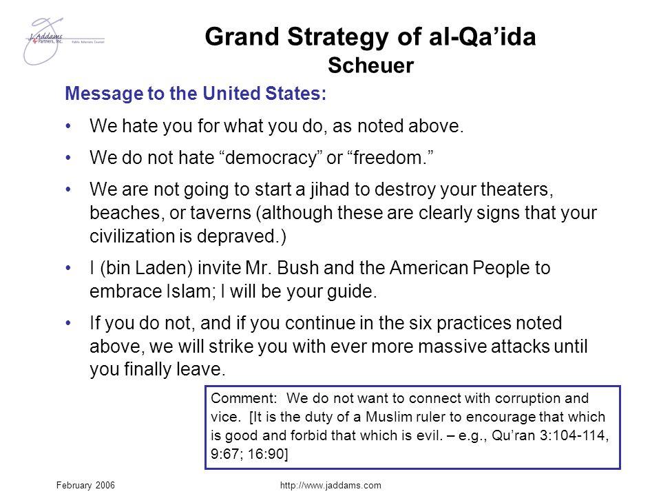 Grand Strategy of al-Qa'ida Scheuer