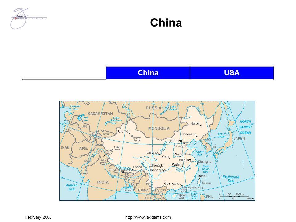 China China USA Potentially hostile border 13,700 mi.