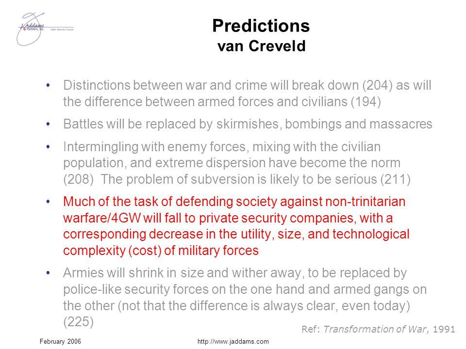 Predictions van Creveld