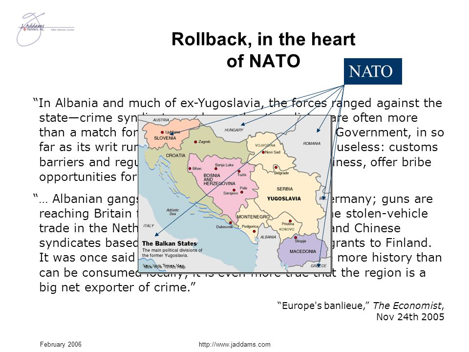 Rollback, in the heart of NATO