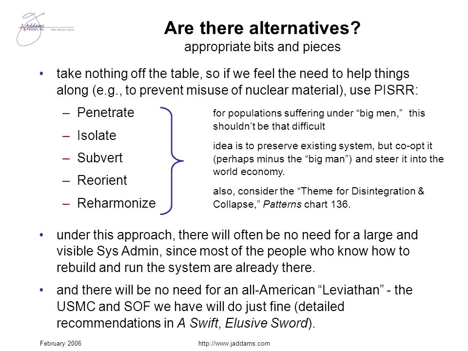 Are there alternatives appropriate bits and pieces