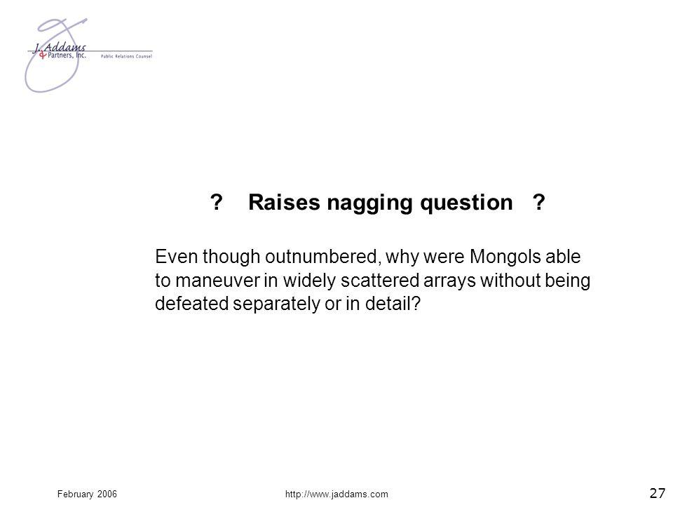 Raises nagging question