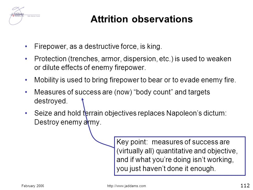 Attrition observations