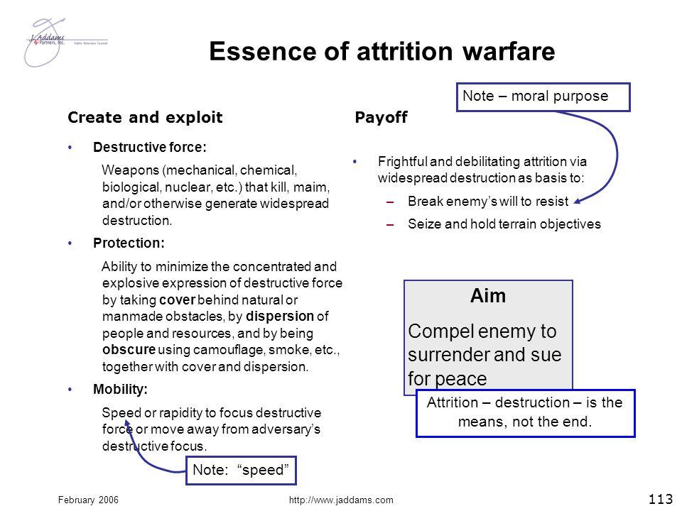 Essence of attrition warfare