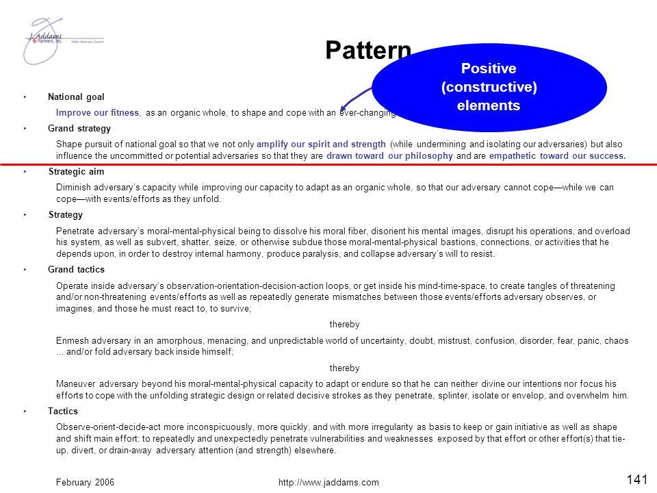 Positive (constructive) elements