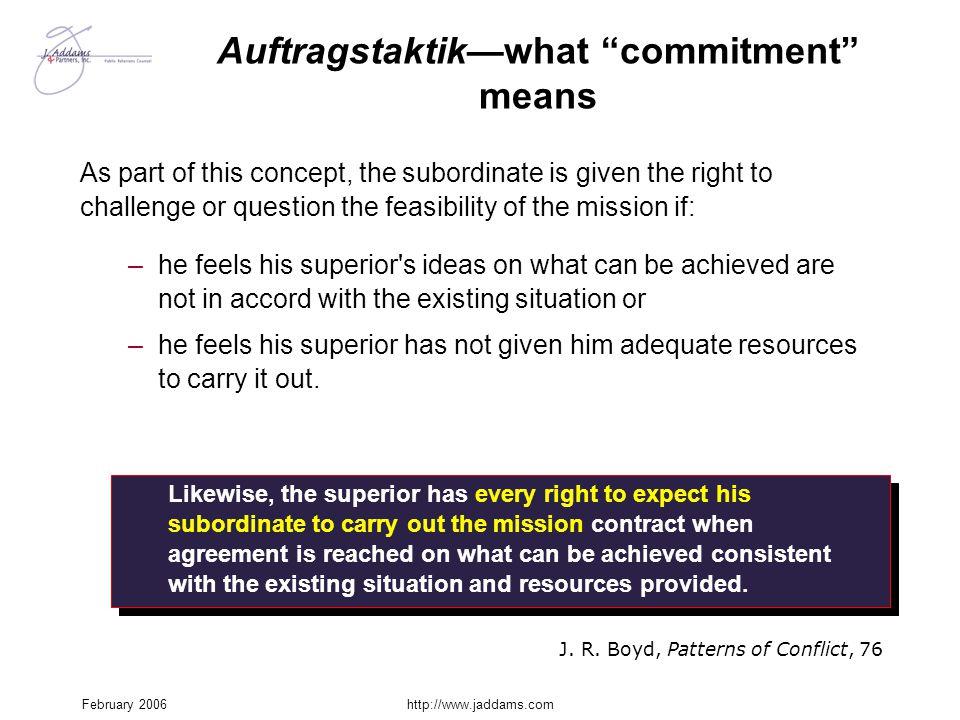 Auftragstaktik—what commitment means
