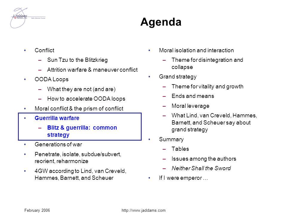 Agenda Conflict Sun Tzu to the Blitzkrieg