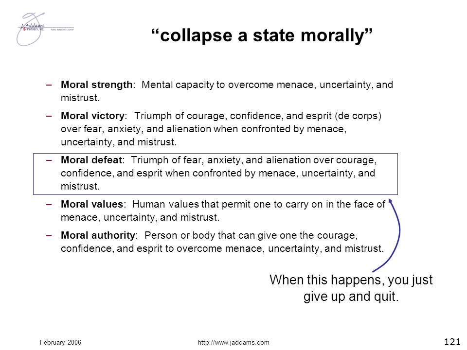 collapse a state morally