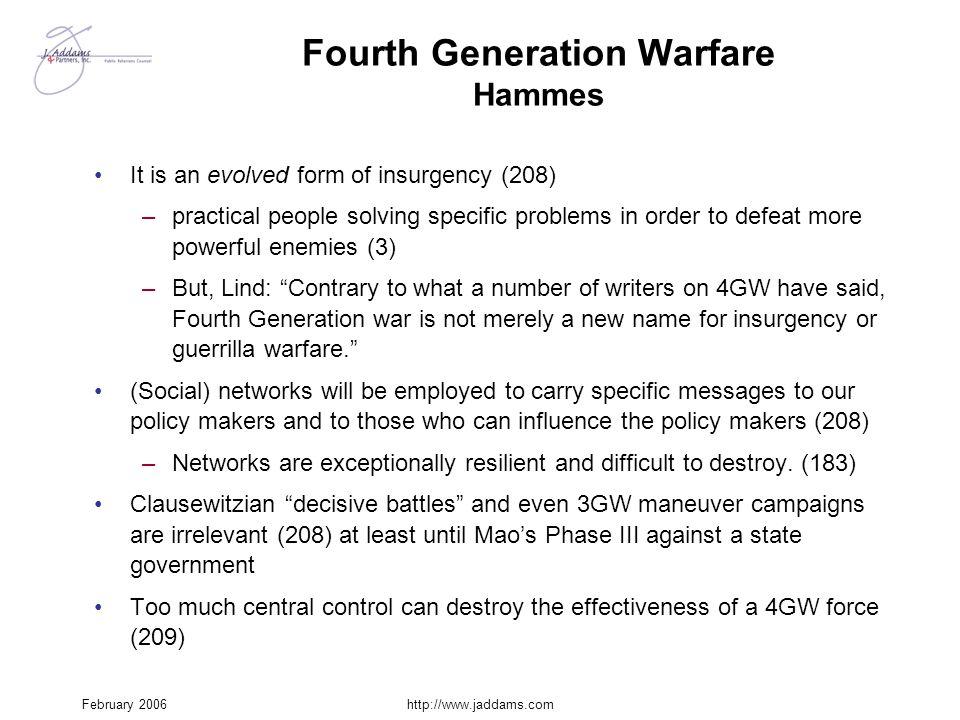 Fourth Generation Warfare Hammes