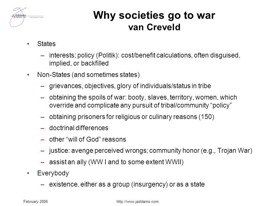 Why societies go to war van Creveld