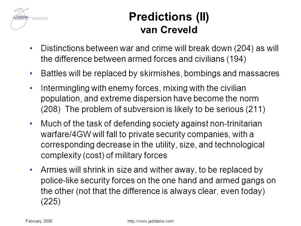 Predictions (II) van Creveld