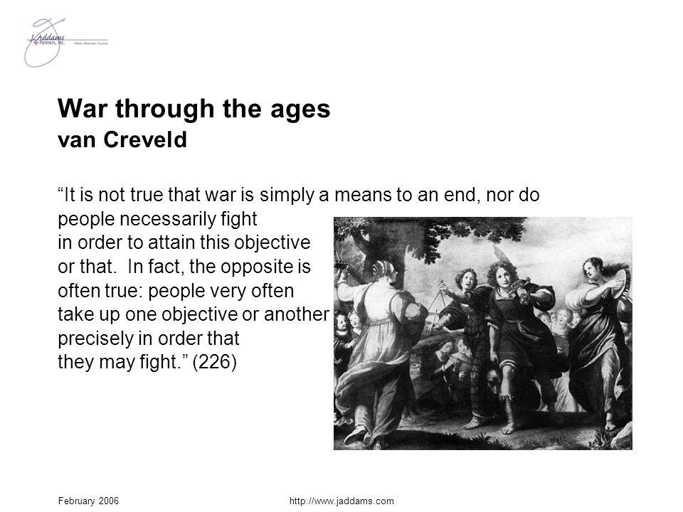 War through the ages van Creveld
