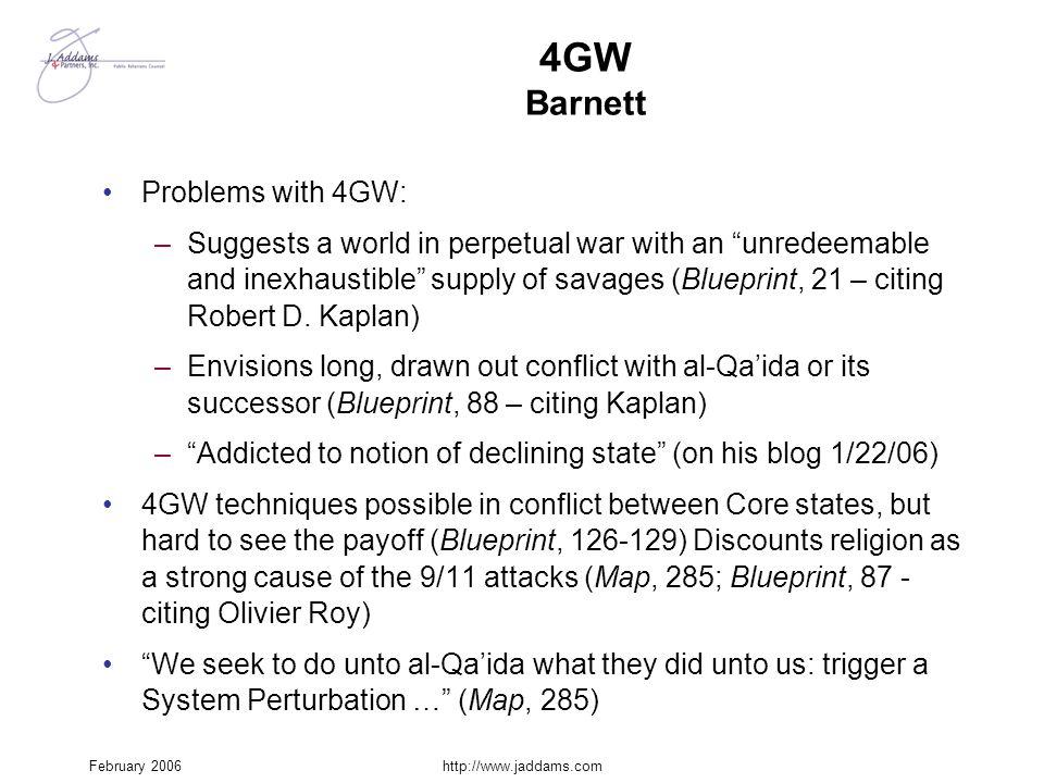4GW Barnett Problems with 4GW: