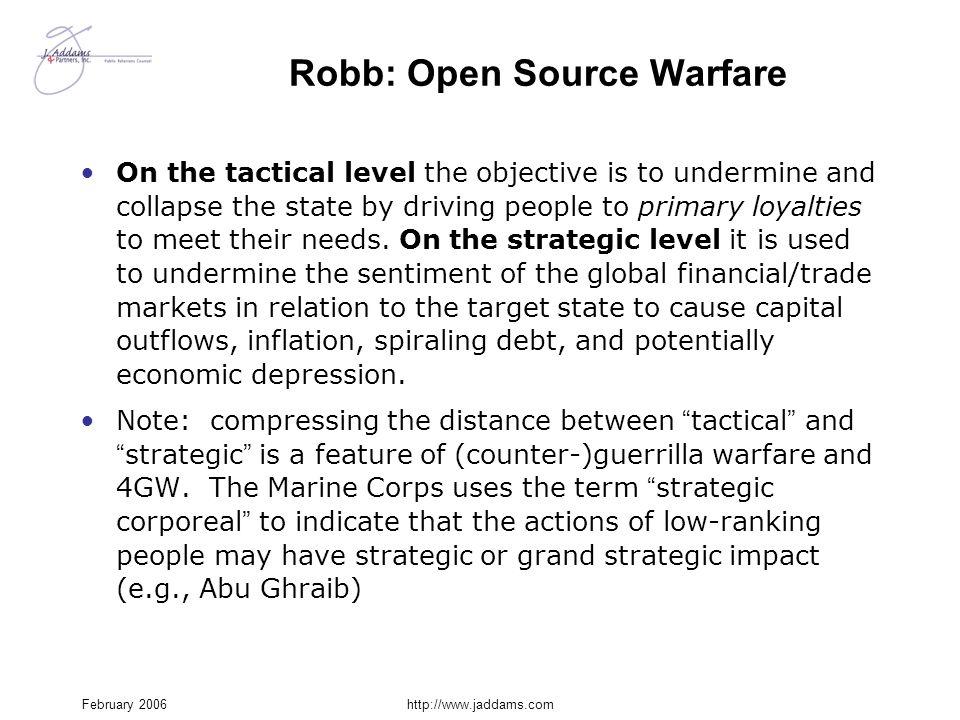 Robb: Open Source Warfare
