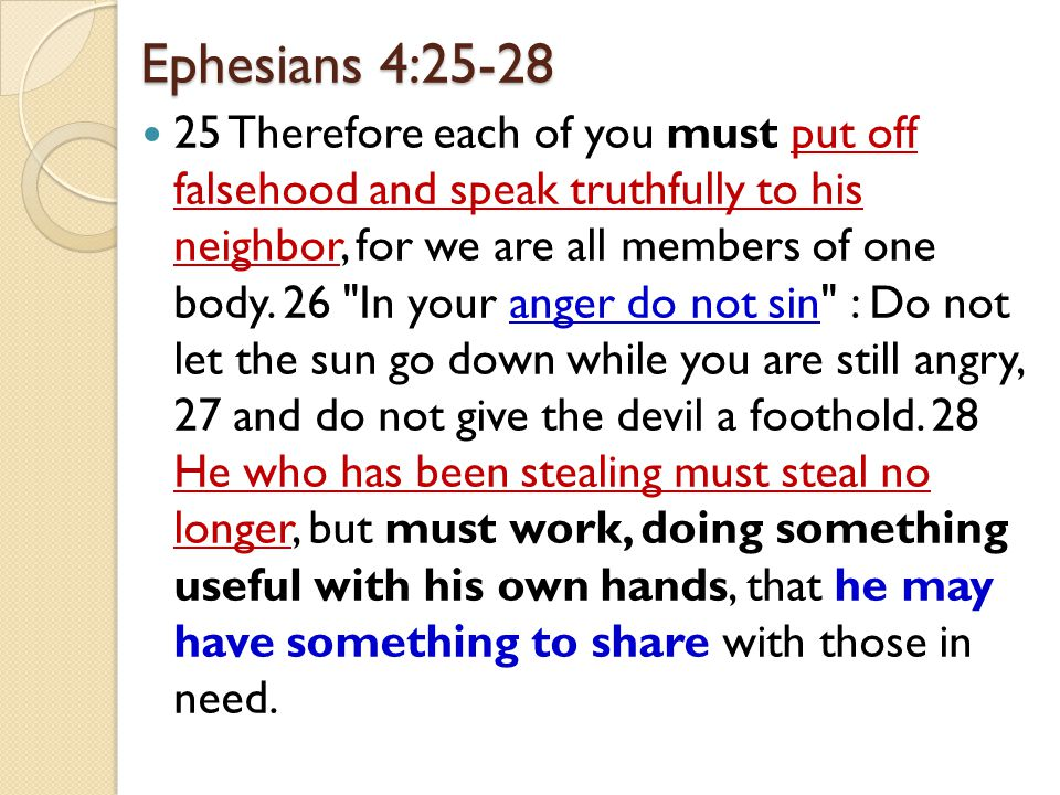 Ephesians 4:25-28