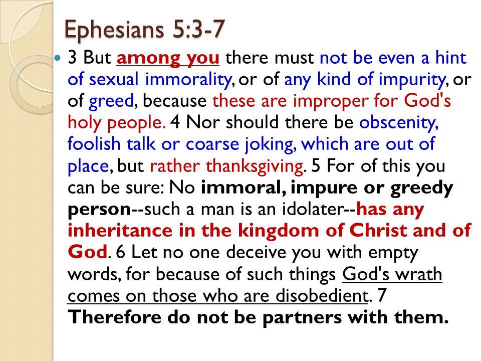 Ephesians 5:3-7
