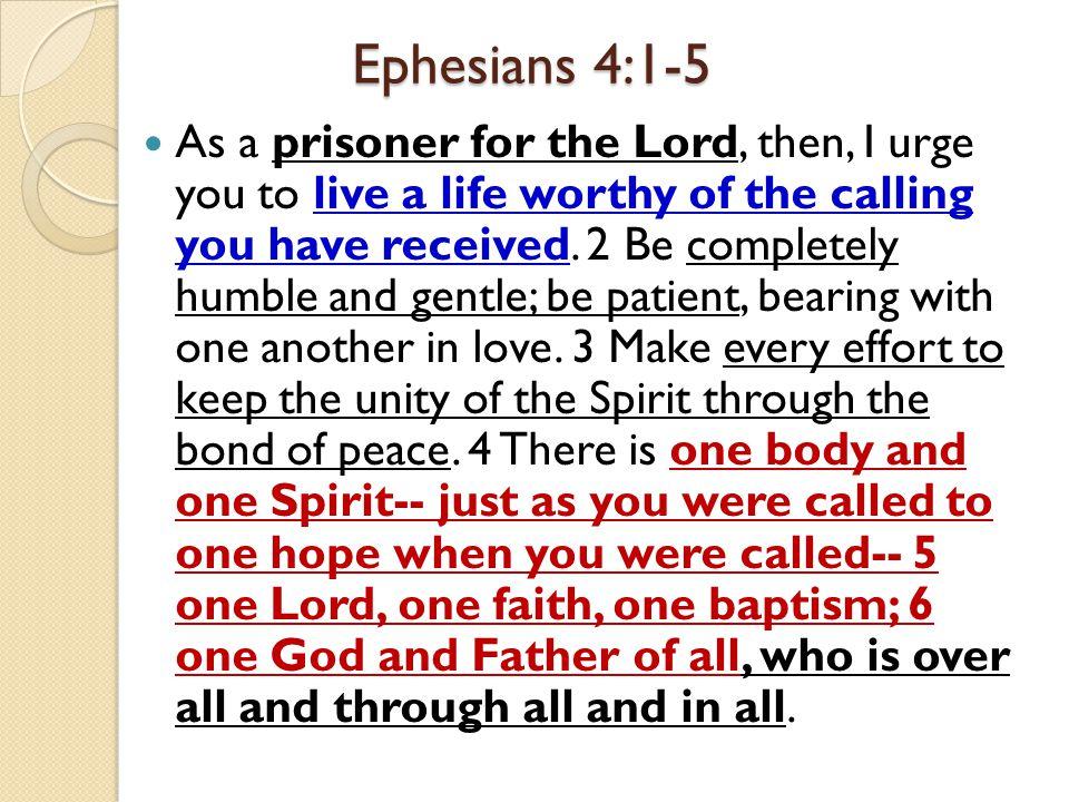 Ephesians 4:1-5