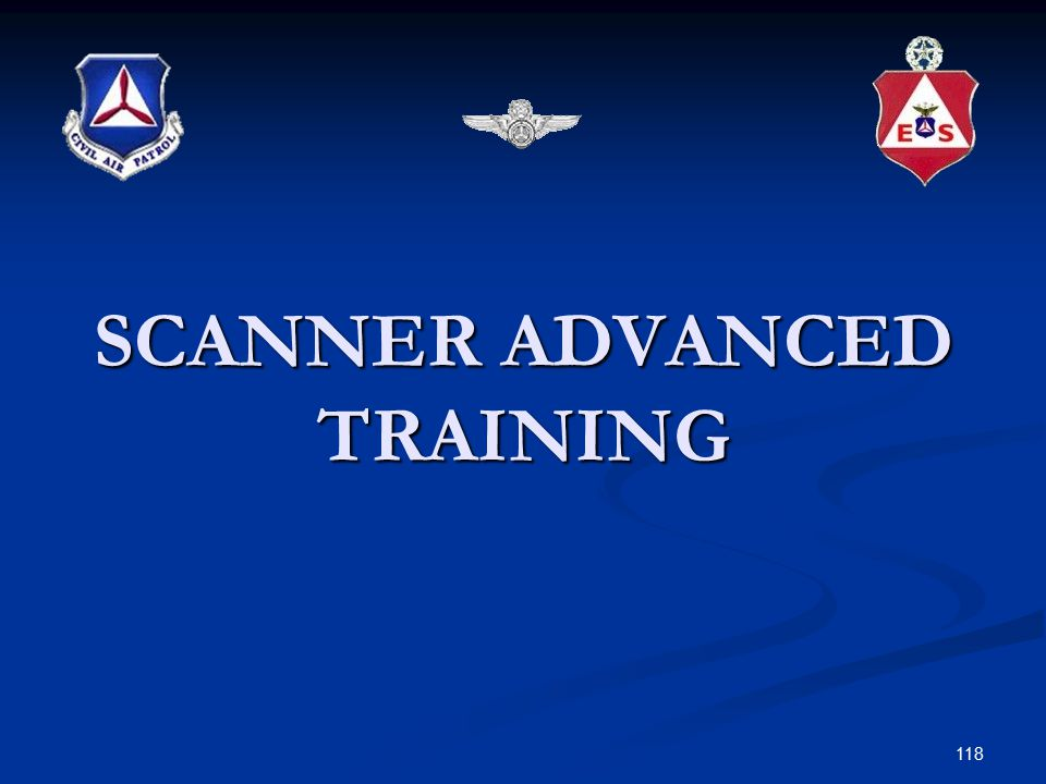 SCANNER ADVANCED TRAINING