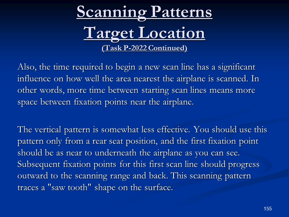 Scanning Patterns Target Location (Task P-2022 Continued)