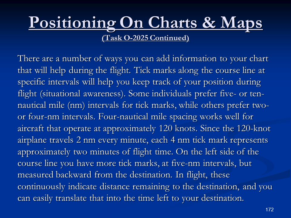 Positioning On Charts & Maps (Task O-2025 Continued)