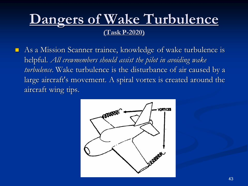 Dangers of Wake Turbulence (Task P-2020)