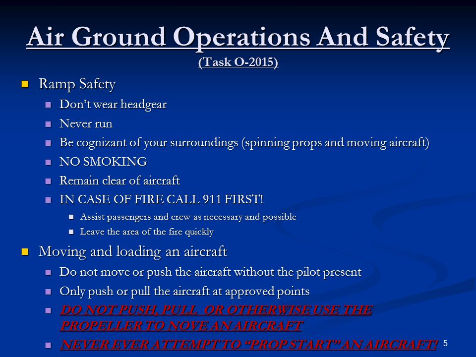 Air Ground Operations And Safety (Task O-2015)
