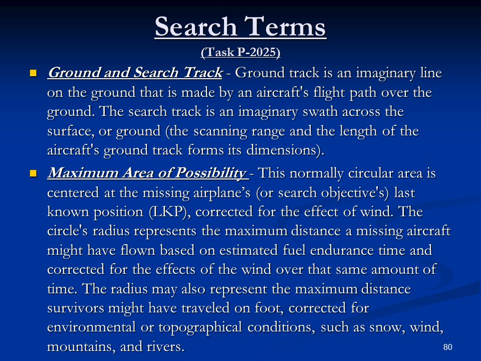 Search Terms (Task P-2025)