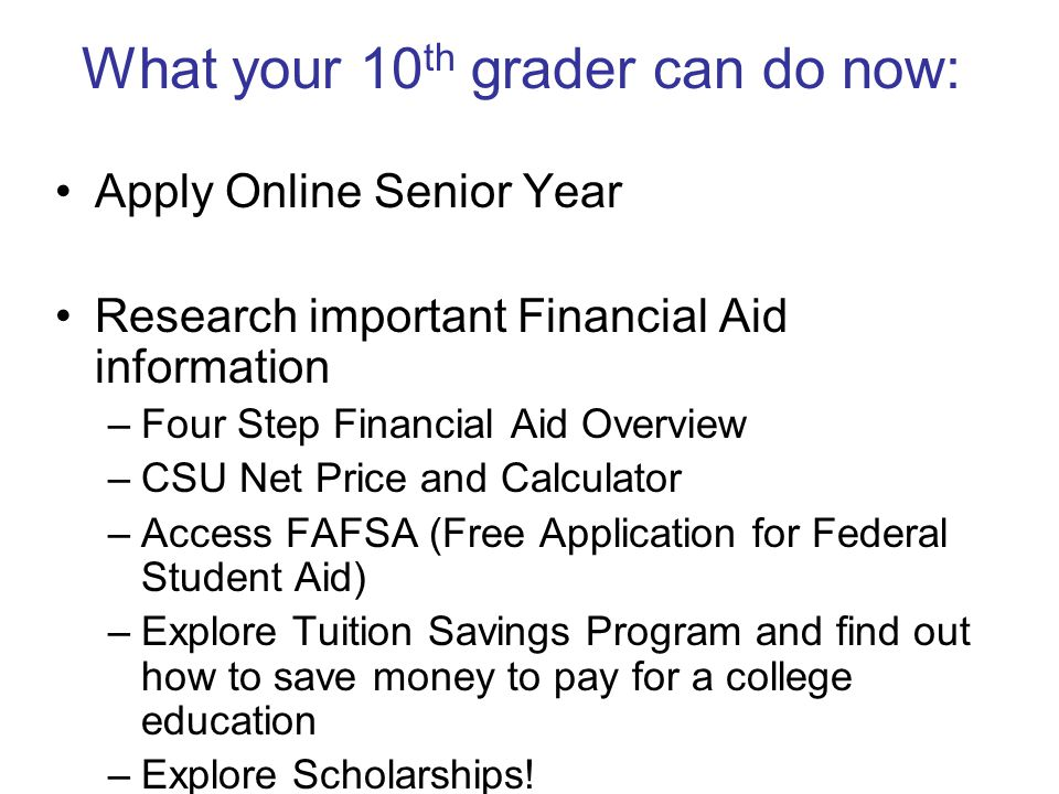 What your 10th grader can do now: