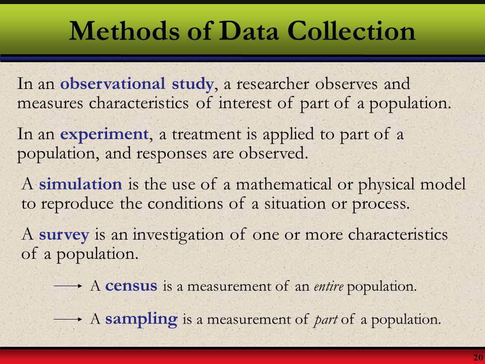 data collection methods in statistics pdf