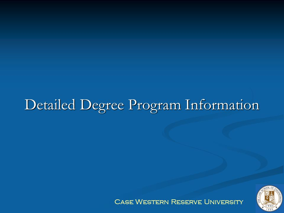 Detailed Degree Program Information