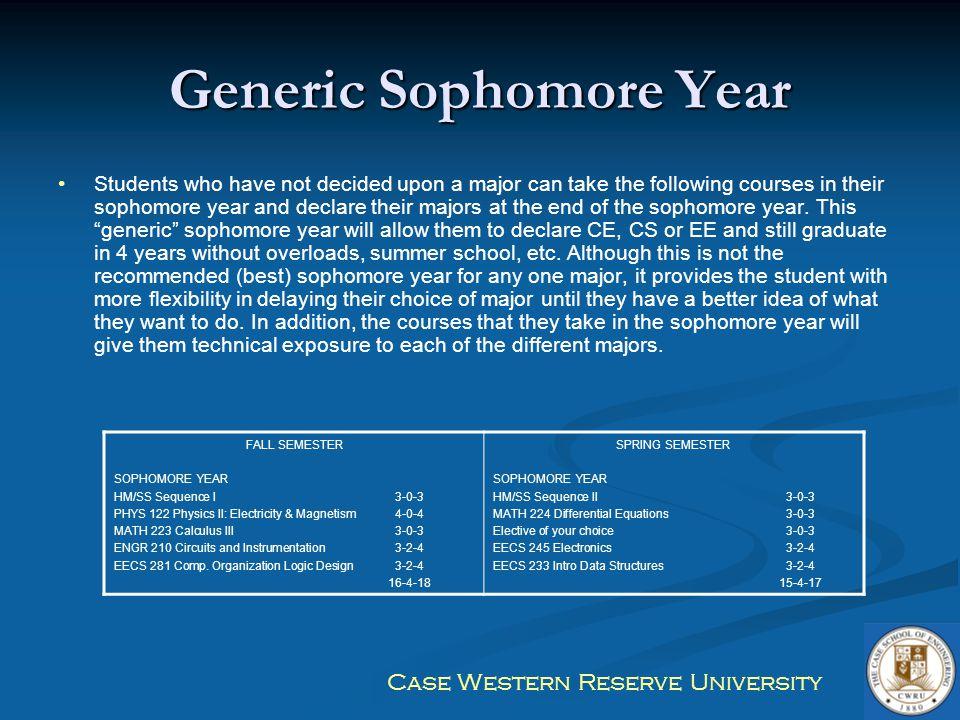 Generic Sophomore Year
