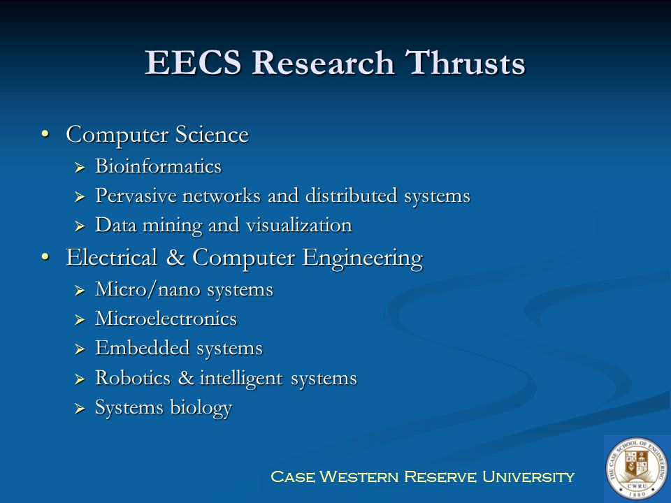 EECS Research Thrusts Computer Science