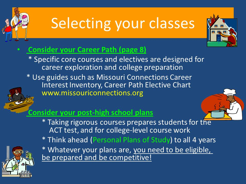 Selecting your classes