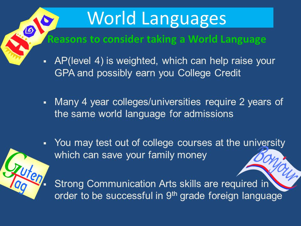 Reasons to consider taking a World Language