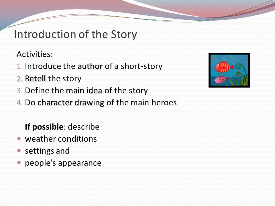 Introduction of the Story