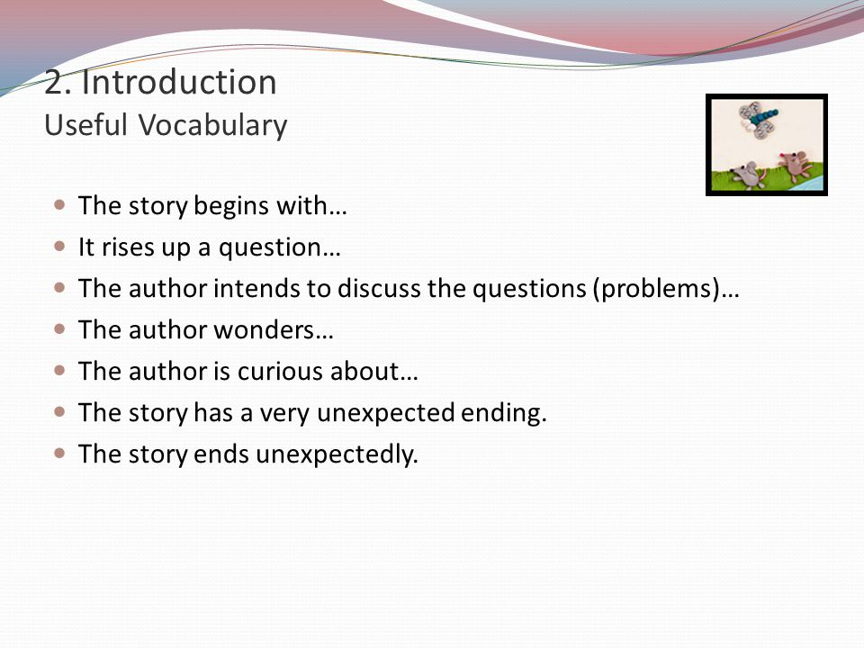 2. Introduction Useful Vocabulary