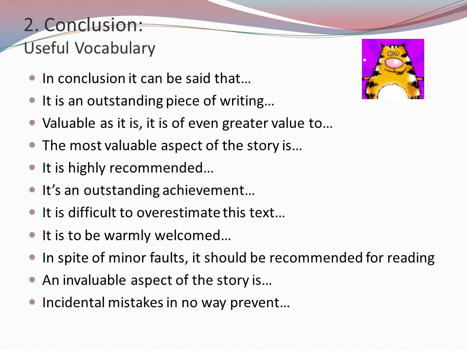 2. Conclusion: Useful Vocabulary