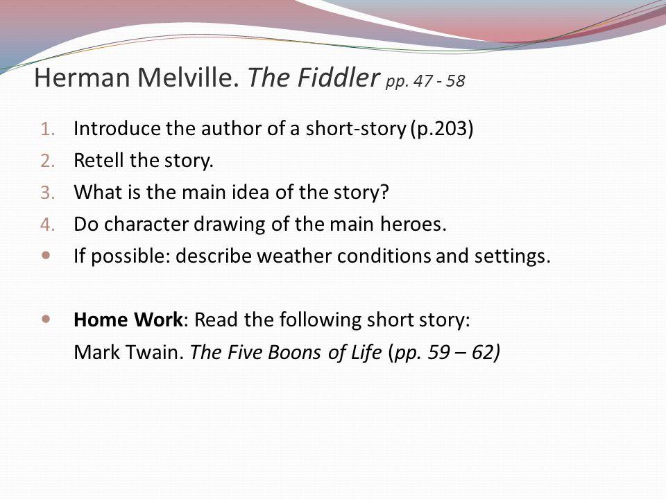 Herman Melville. The Fiddler pp. 47 - 58