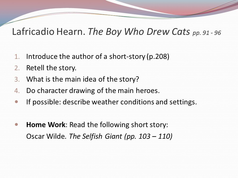 Lafricadio Hearn. The Boy Who Drew Cats pp. 91 - 96