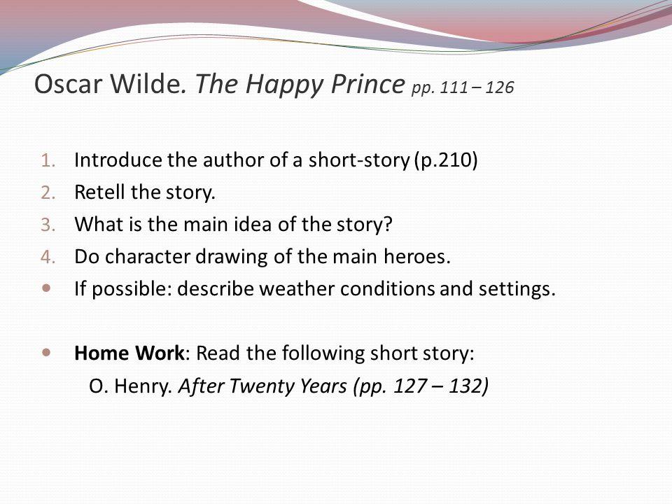 Oscar Wilde. The Happy Prince pp. 111 – 126