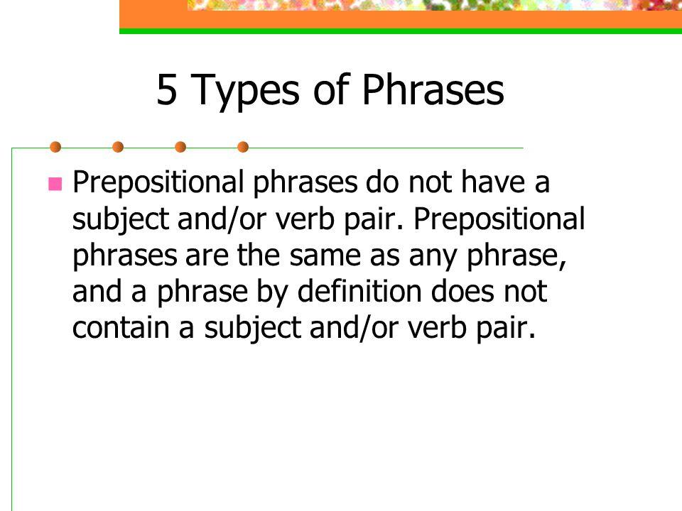 5 Types of Phrases