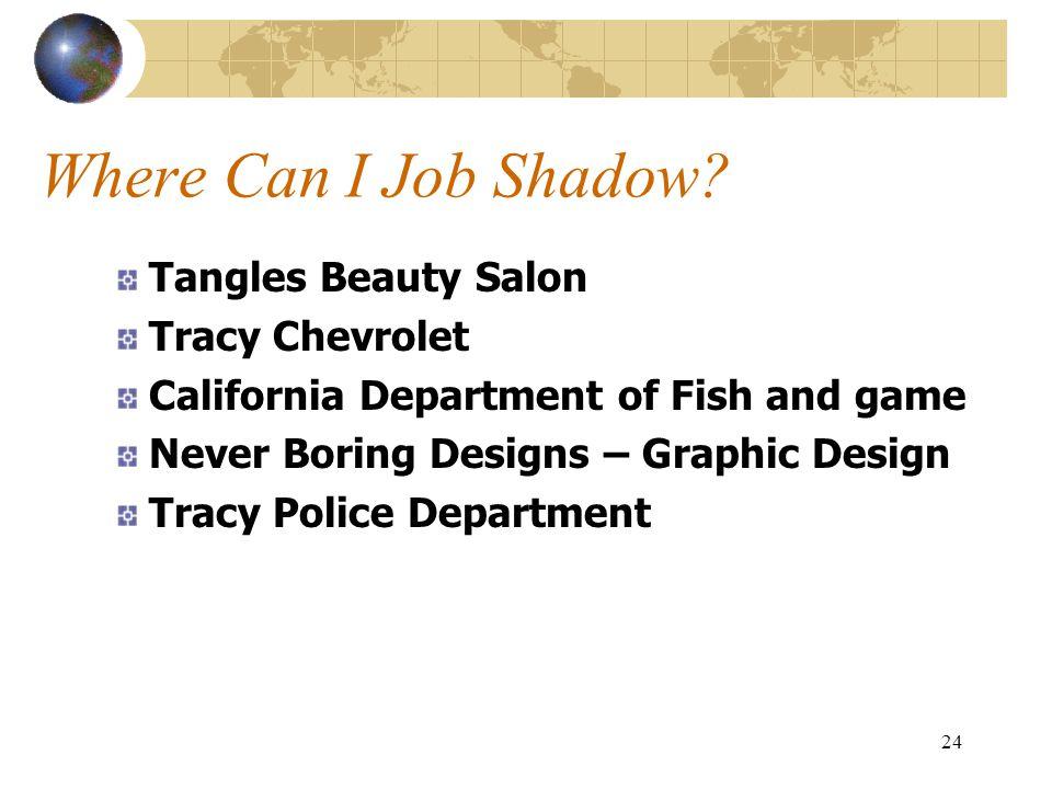 Where Can I Job Shadow Tangles Beauty Salon Tracy Chevrolet
