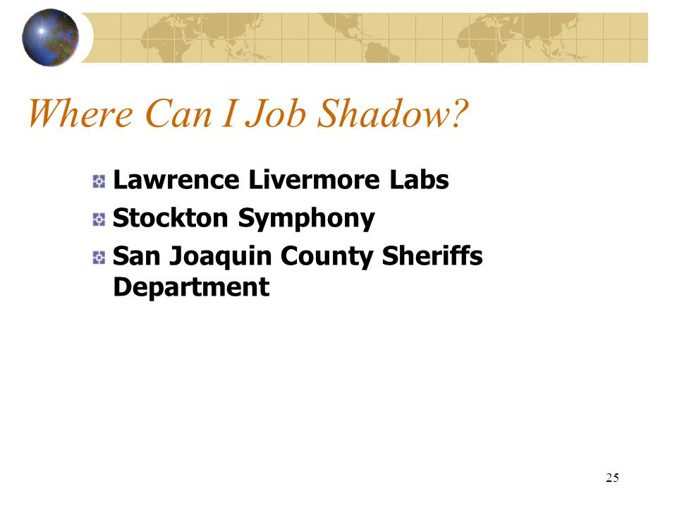 Where Can I Job Shadow Lawrence Livermore Labs Stockton Symphony