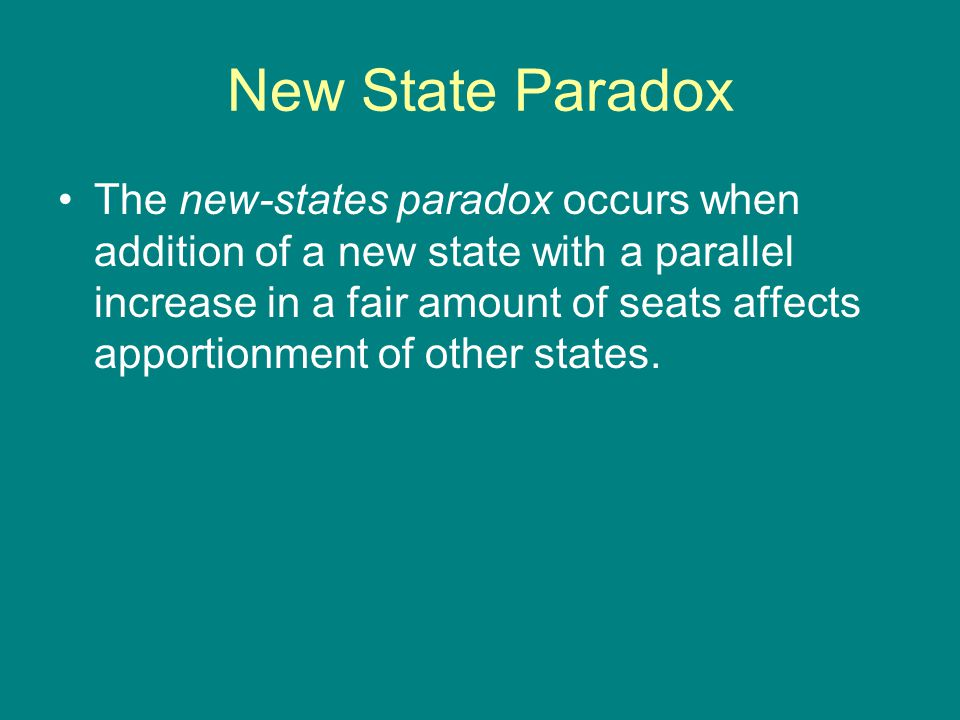 New State Paradox