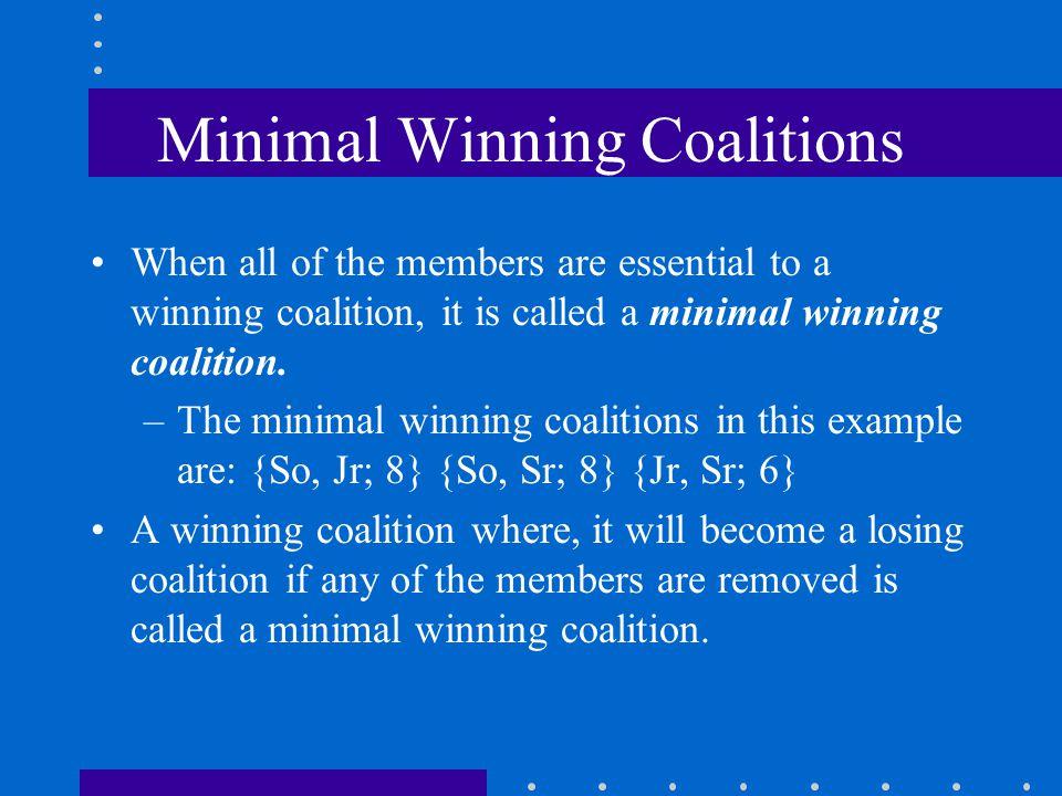 Minimal Winning Coalitions