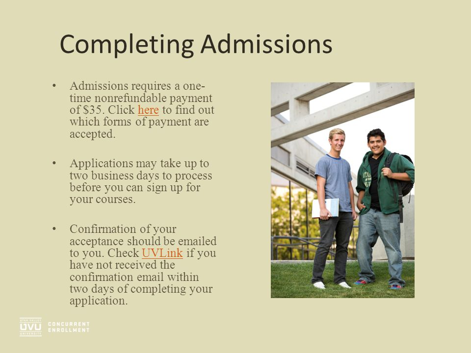 Completing Admissions