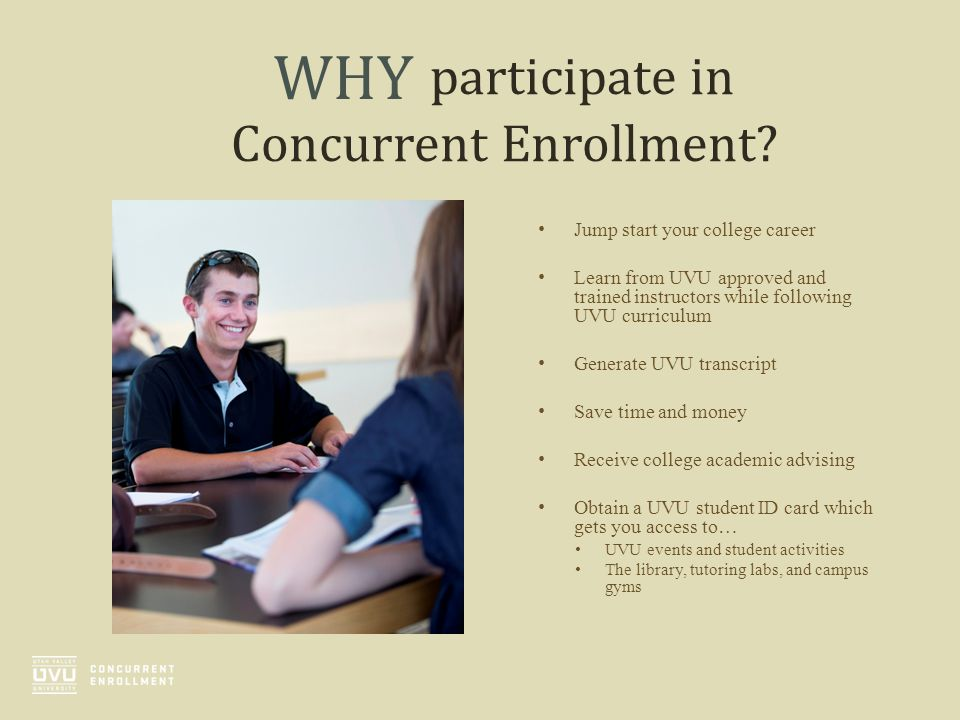 participate in Concurrent Enrollment
