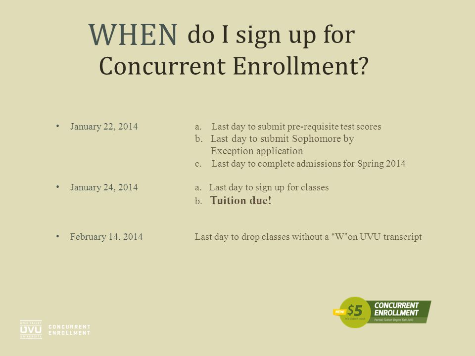 do I sign up for Concurrent Enrollment