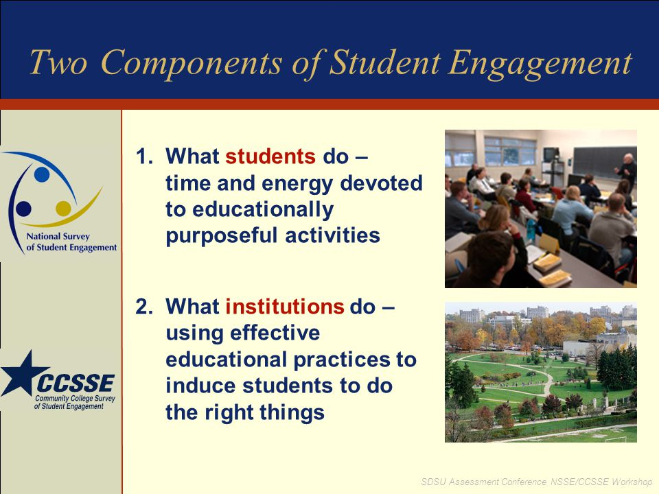 Two Components of Student Engagement