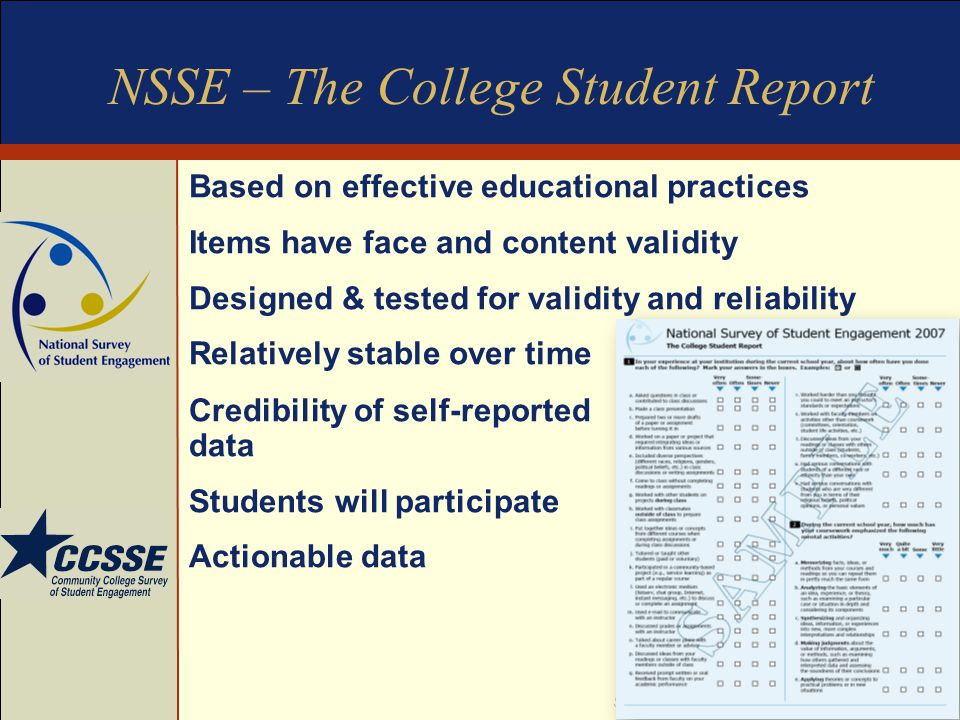 NSSE – The College Student Report